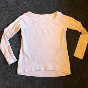 Wide neck Lululemon sweatshirt in oatmeal color